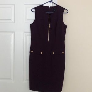 Purple with gold hardware dress